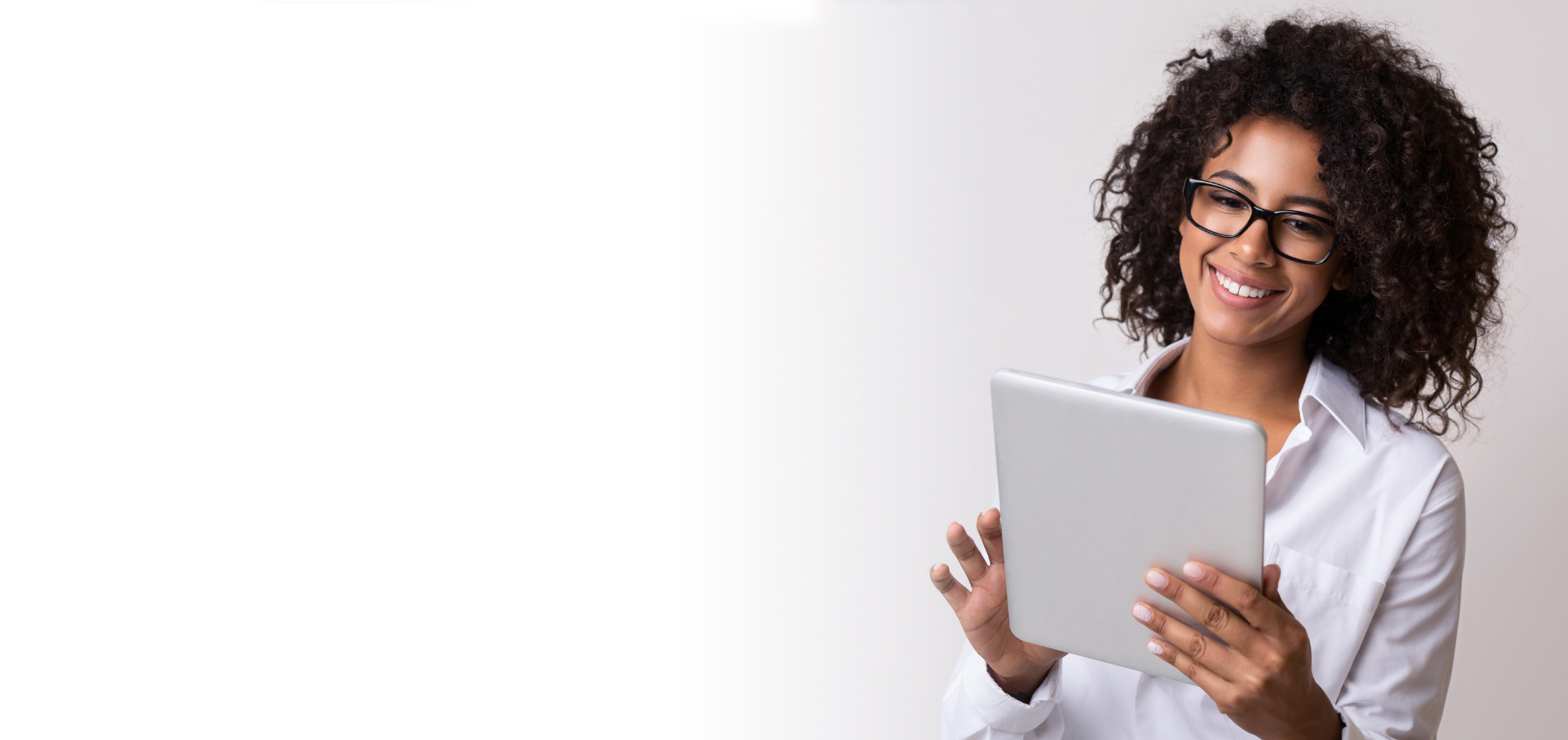 Employers looking through resumes on a tablet